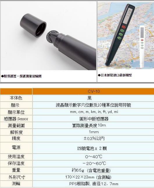 KOIZUMI CV-10 電子式比例尺(量圖計)