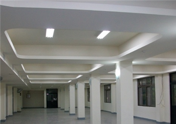 暗架天花、矽酸鈣暗架天花板、弧型天花板、矩形板天花板、