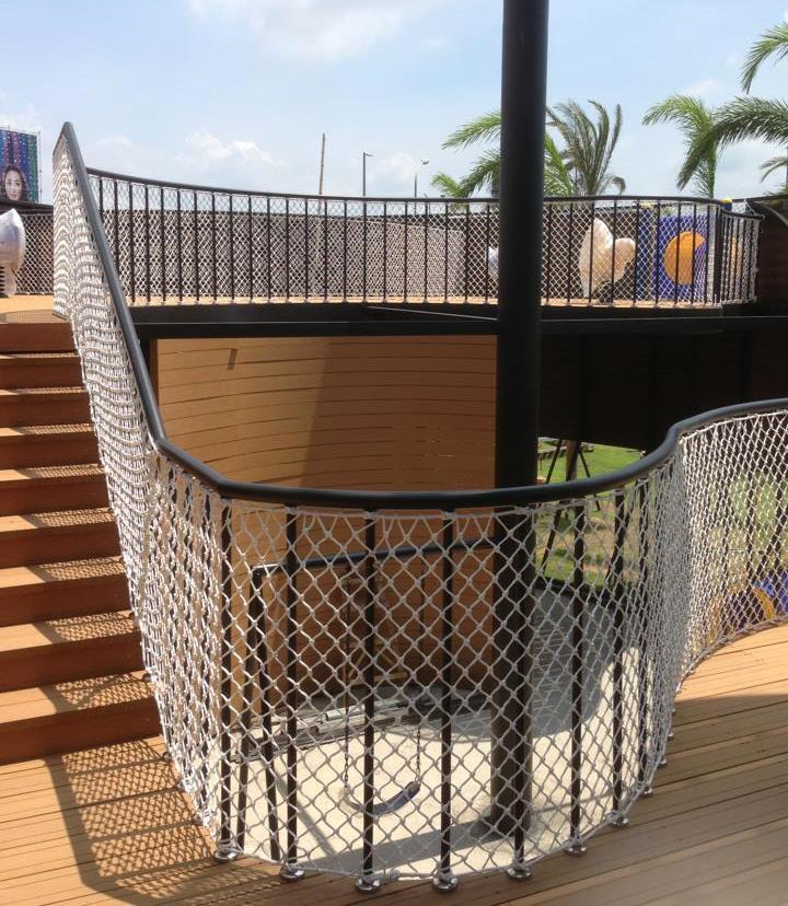 兒童遊戲區樓梯防護網