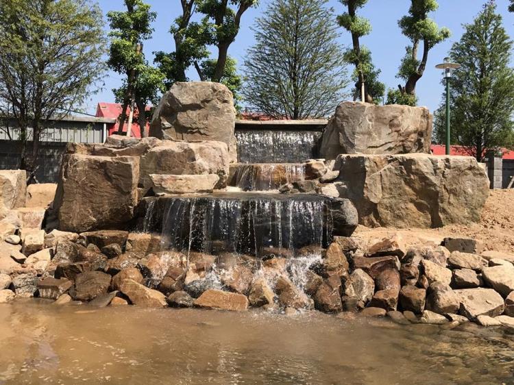 假山水景噴泉