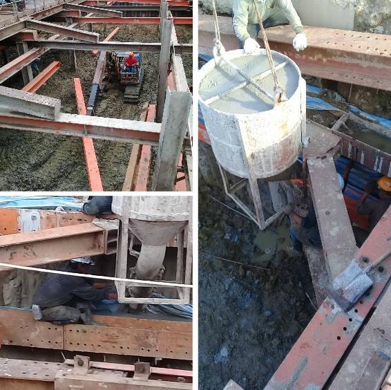 施工構台、覆工板施工、圍苓背填施工、安全㯗杆施工、施工樓梯架設