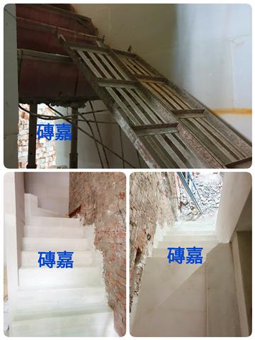 老舊樓梯斷裂