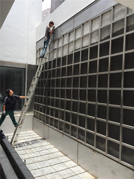水幕工程骨架施作