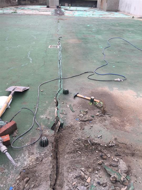 大樓結構縫止水防水施作