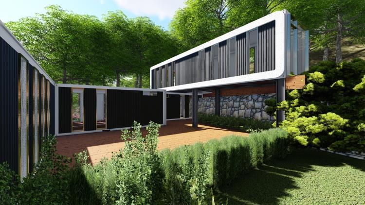 2D.3D貨櫃屋設計及實境動畫製作