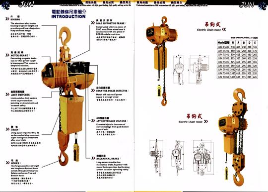 JUN 電動吊車 0.5T-25T