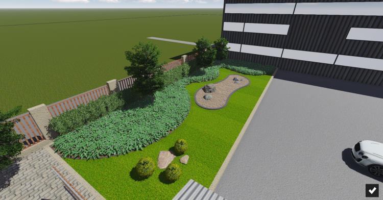 廠房週邊景觀3D設計透視圖