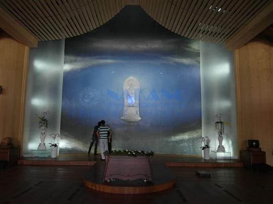 知名宗教藏經閣壓克力結構牆