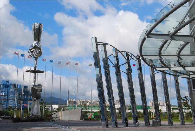 世貿南港展覽館不鏽鋼鍛造(天人境界)