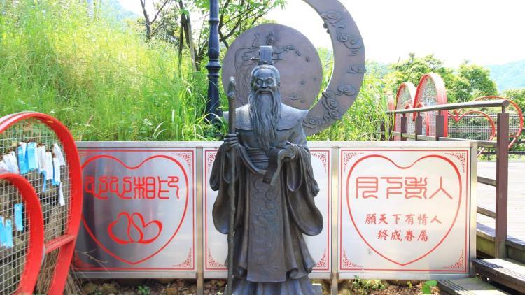 指南宮銅雕月下老人