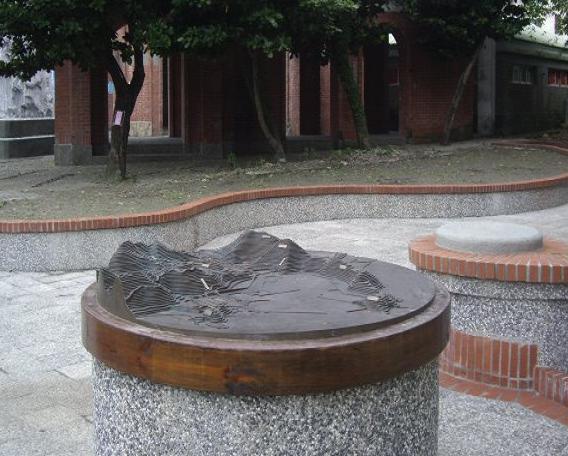 地形立體銅雕