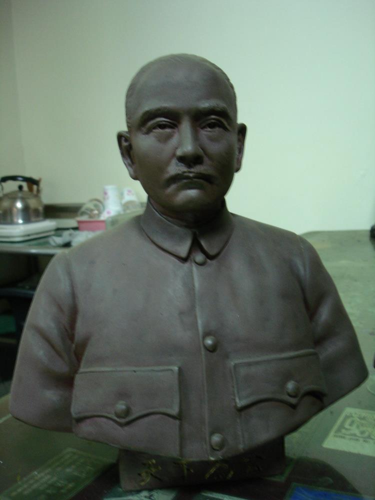 孫中山立體胸像銅雕