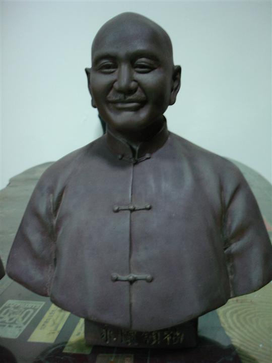 蔣中正立體胸像銅雕