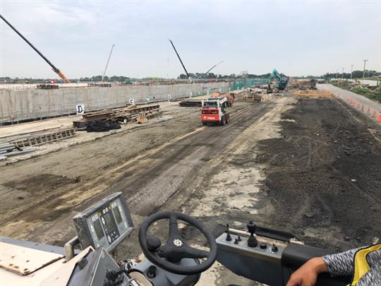 台積電18廠瀝青混凝土施工