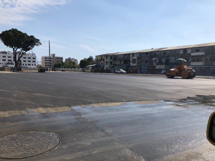 瀝青混凝土施工-民營停車場