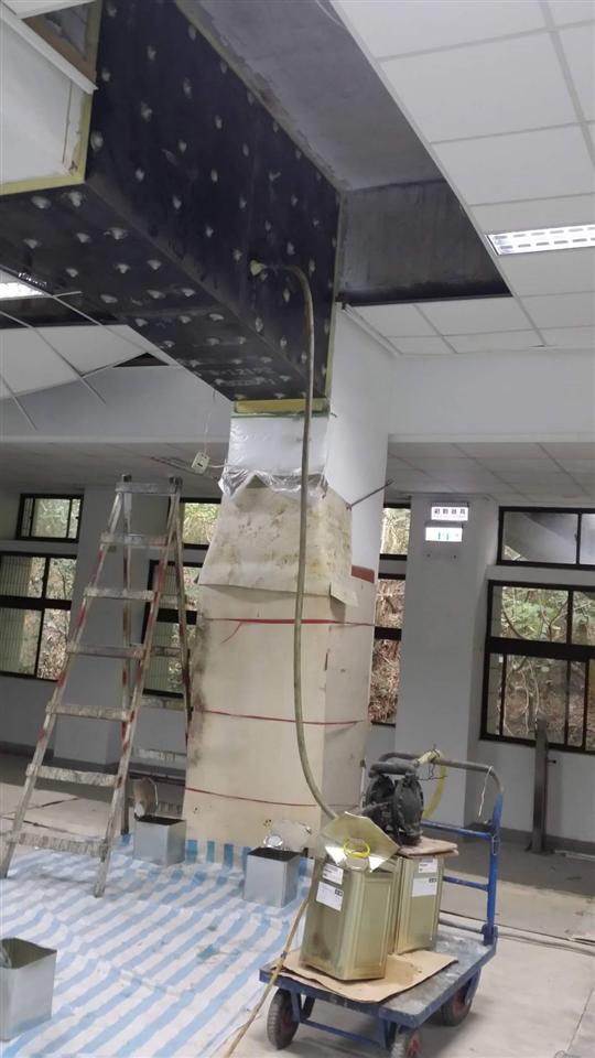 鋼板封塞灌注補強工程