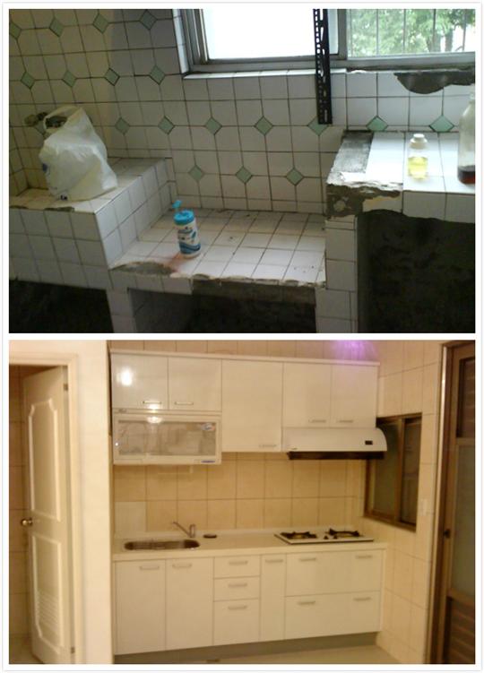 廚房更新-施工前後