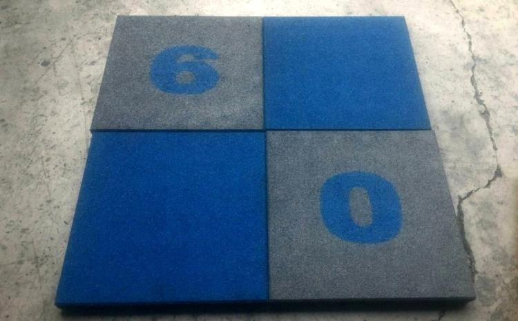 藍灰配地墊組