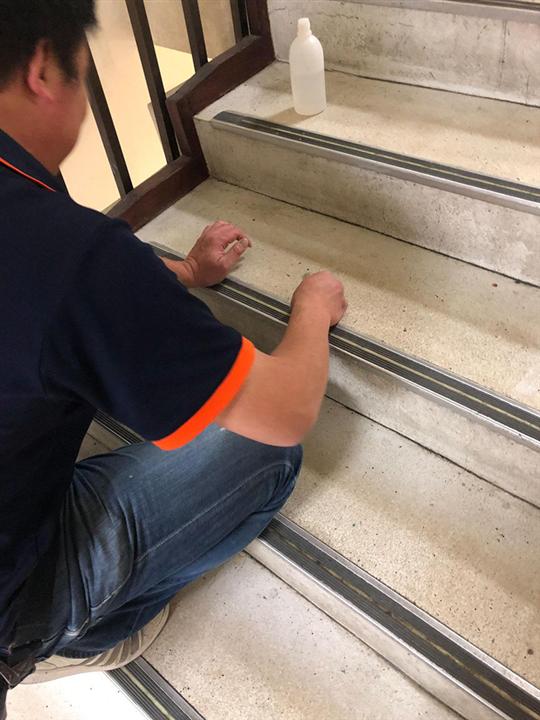樓梯晶化研磨