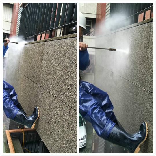 外牆青苔高壓沖洗