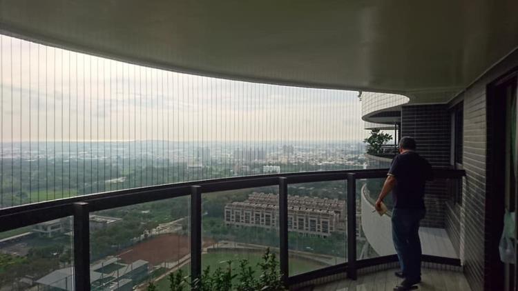 7-大樓隱形鐵窗、安全防墜網、大樓隱形防墜網0917-762-979