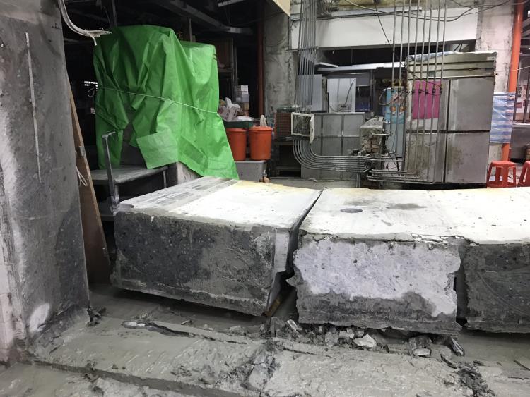 55公分厚牆壁切割