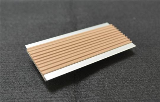 樓梯鋁合金止滑條(崁PVC)-棕