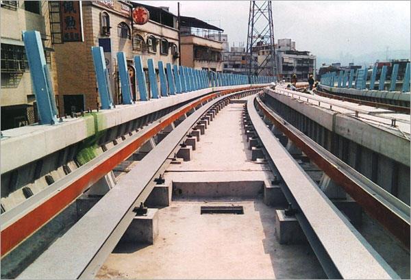 13-型鋼彎曲軌道工程、捷運軌道工程