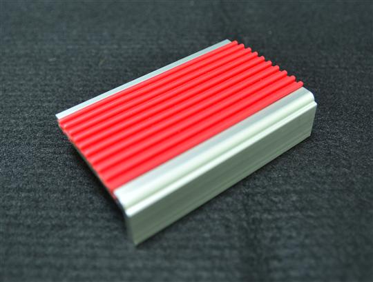樓梯鋁合金止滑條(崁PVC)-紅