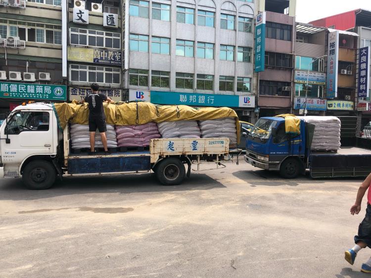 校園跑道材料運送