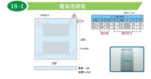 電箱用網板(需客製訂做)