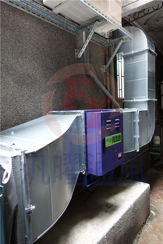 風管設計工程/(烘焙)排氣式煙罩
