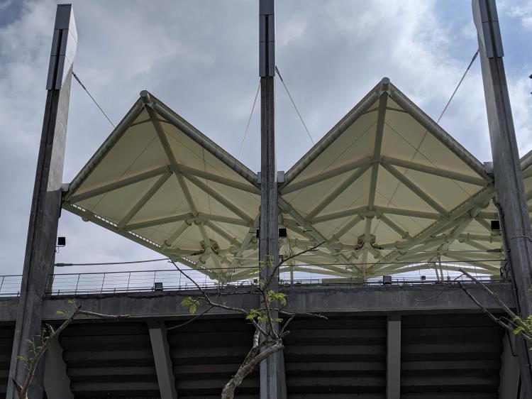 臺南亞太國際棒球訓練中心少棒主球場觀眾席結構索