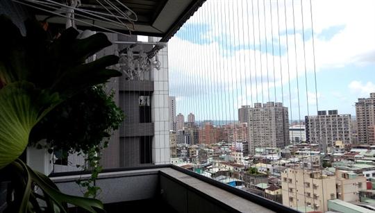 隱形鐵窗-大理石陽台