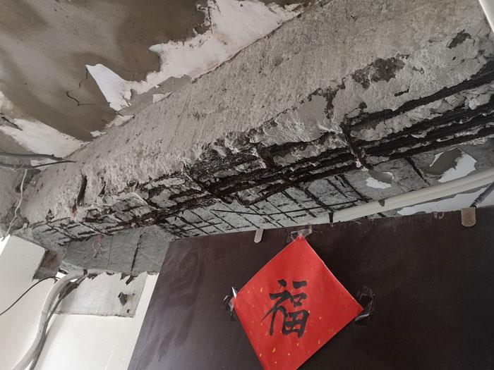 鋼筋外露EPOXY砂漿碳纖補強
