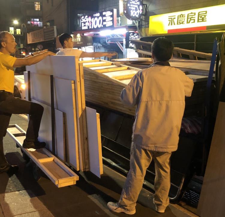 板橋三猿廣場建材運送