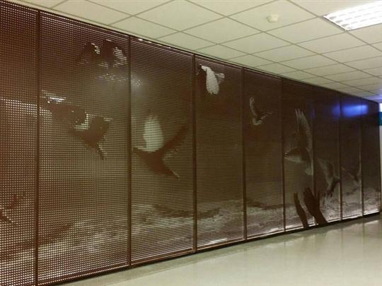 台安醫院-金屬藝術牆