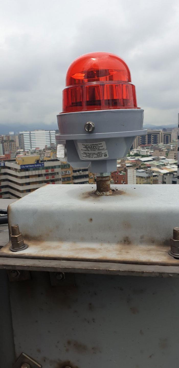 北市大樓航障燈修繕更換