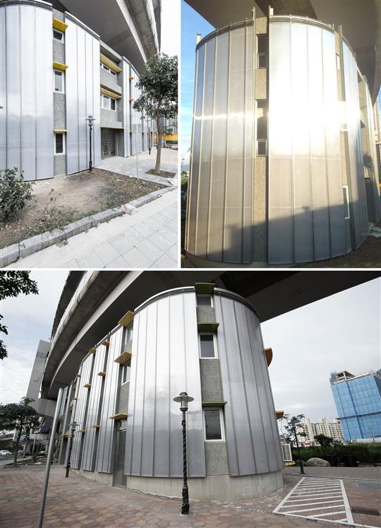 內湖石潭活動中心外牆飾板