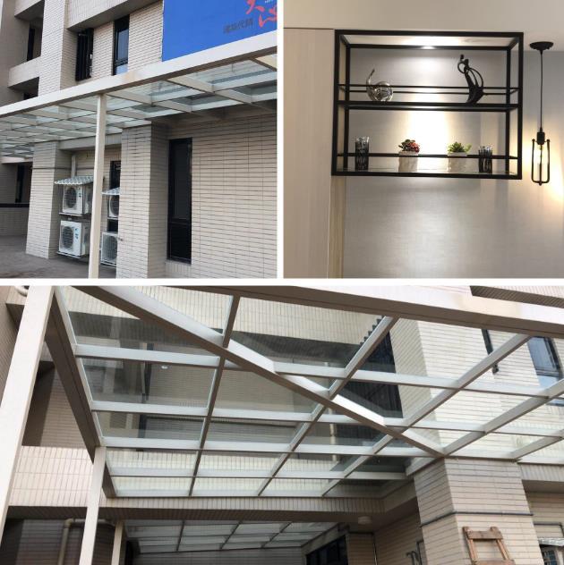 客製鐵件裝潢、室內鐵件裝潢、採光罩工程