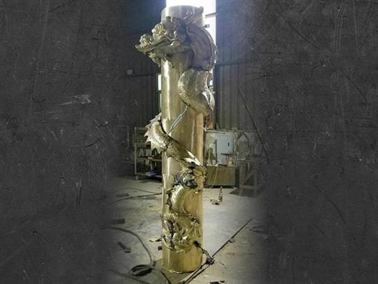 28-銅龍柱、客製銅龍柱0937-792999