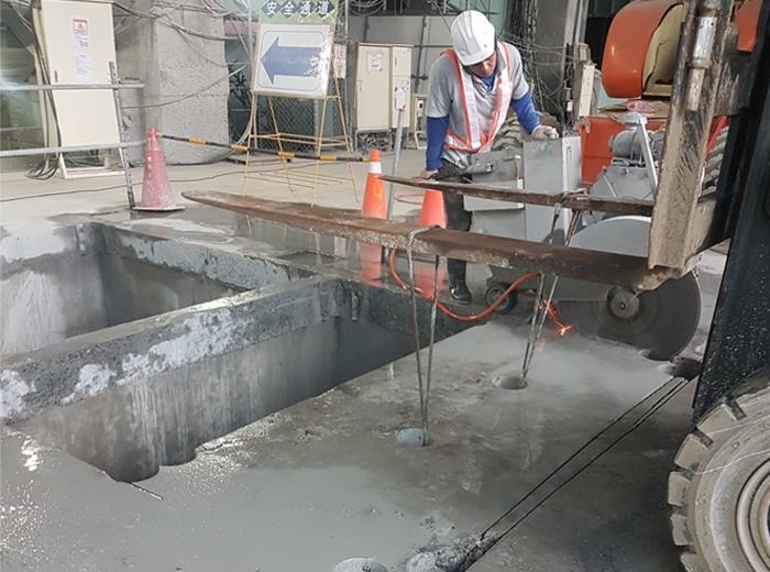 水泥塊切割拆除搬運