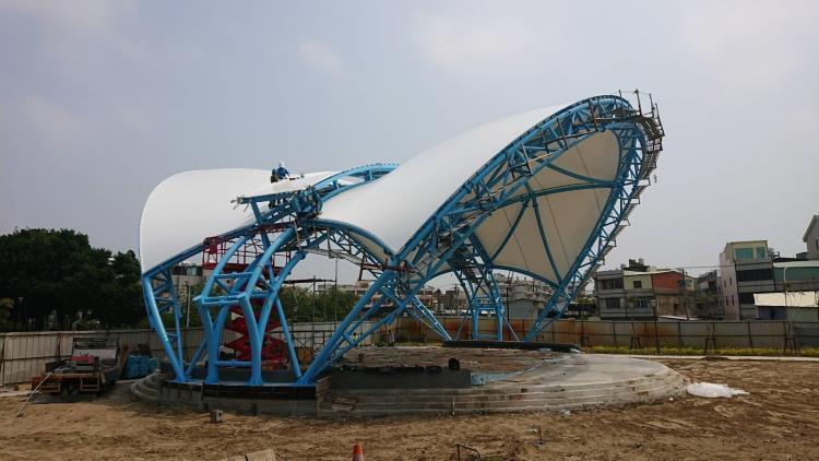 彰化和美鎮德美公園 膜鋼構