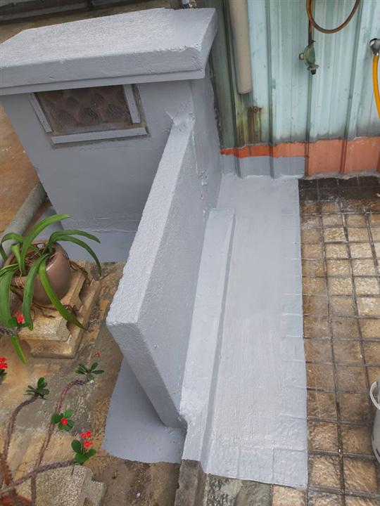 社區屋頂管道段水路