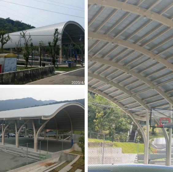 瑞芳運動公園-風雨球埸(造型鋼構、膜結構)