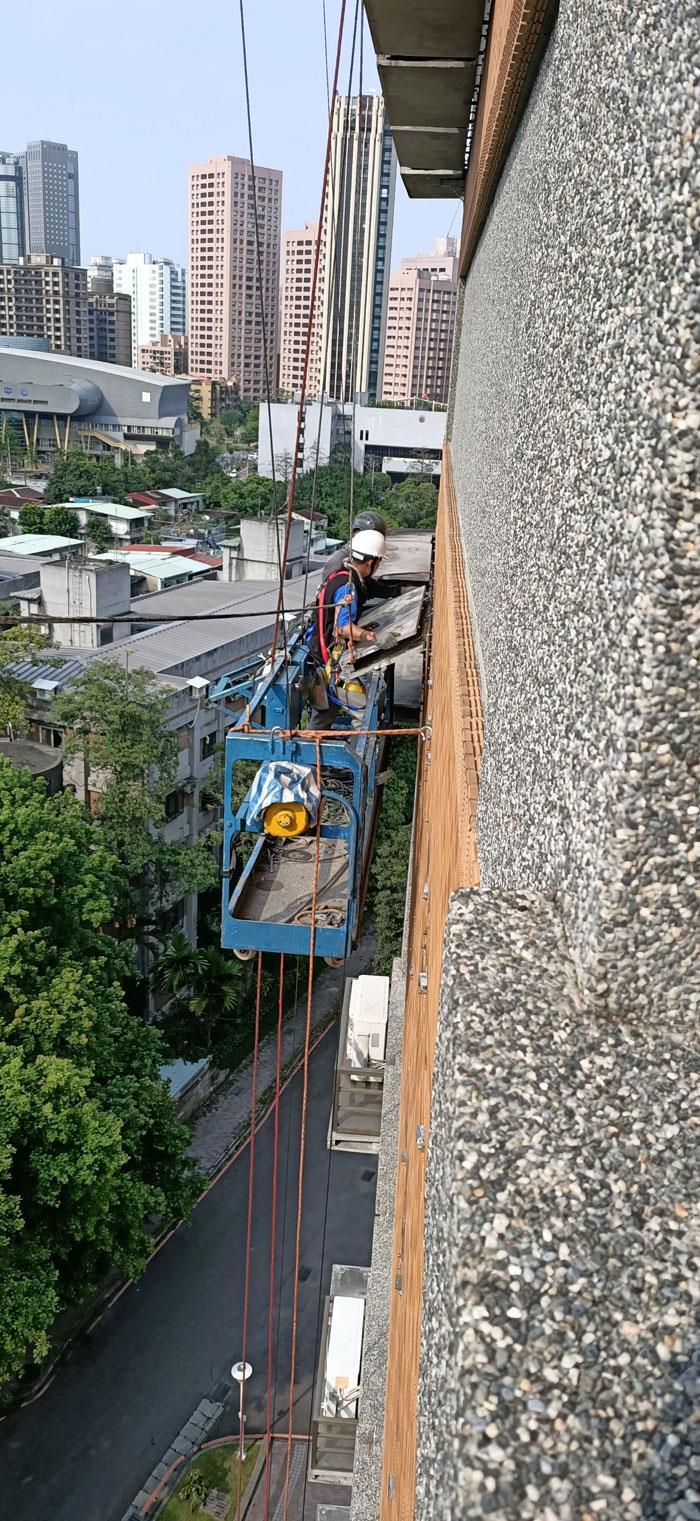 水泥外牆板拆除作業