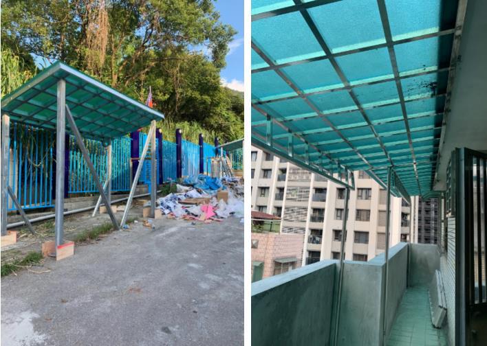 不鏽鋼採光罩、陽台遮雨棚