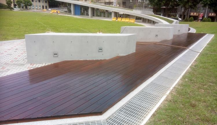 木平台-不鏽鋼 金檀木