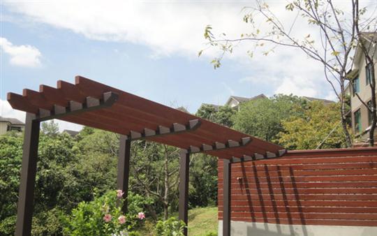 花架、圍籬-南洋櫸木