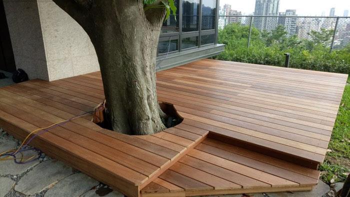 木平台-鋼構-南洋櫸木